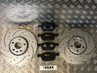 DRILLED & GROOVED FRONT BRAKE DISCS & PADS VOLVO XC60 2.0 2.4 3.0 D D3 08-18