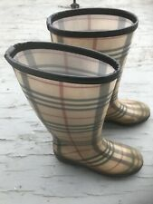 Burberry Nova Check Boots Womens Boots Rain Boots  Size 7
