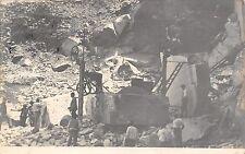 8898) CARRARA MACCHINARI PER IL TAGLIO IN UNA CAVA DI MARMO VG NEL 1917.