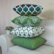18x18 Green Outdoor Patio Pillow Covers ANY SIZE/Waterproof Throw Cushion cover