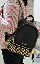 🌹BLACK FRIDAY🌹 100% Michael Kors Leather Rhea Backpack Rucksack Black BNWT