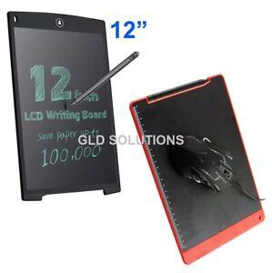 "TACCUINO Elettronico Display LCD 12"" Disegnare/Appunti TAPPETINO MOUSE Nero"