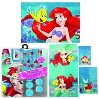 Disney Shower Curtain, Bath Towel, and Memory Foam Mat Little Mermaid 17 Set
