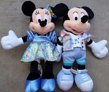 Disney Resort Aulani Minnie&Mickey Mouse Plush Hawaii Exclusive Aloha Wear 11""