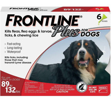 Frontline Large Plus for Dogs  (89 to 132 pounds) Flea Tick Treatment 6 Doses