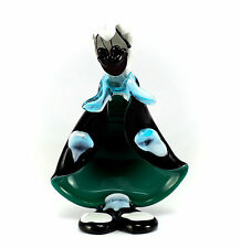 Murano Art Glass Clown Figurine Smiling Clown Figurine Hand Blown Cut & Polished