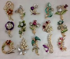 Fashion Jewelry Shop For Cheap A Lovely Job Lot Of 4 Silver Tone Brooches.