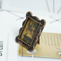 For 1:12 Scale Dollhouse Miniature Retro Metal Photo Frame Dlxq Mini D8M5