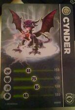 Cynder Skylander Giants Stat Card Only!
