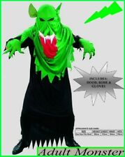 MONSTER Goblin COSTUME Halloween Swamp Ghoul Horror Fancy Dress Party 1 sz Adult