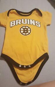 Boston Bruins NHL Reebok infant romper one piece size 6-9 months