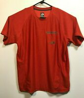 Mens LARGE THE NORTH FACE FlashDry Athletic Pocket T-Shirt Sport Tee Red
