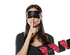 schwarz/rot Augenbinde SM Fetisch Bondage Sex Spielzeug für Paare