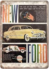 "Ford Forty-Niner V-8 Vintage Ad 12"" x 9"" Retro Look Metal Sign A35"