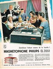 PUBLICITE ADVERTISING 084  1964  PHILIPS   magnétophne EL 3551