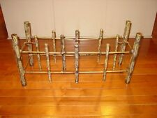 BASE ONLY Mid-Century Brutalist Welded Bronze Metal Coffee Table BASE ONLY
