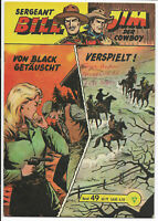 Sergeant Bill Nr.49 von 1960 - Z1-2 ORIGINAL LEHNING COMICHEFT Hansrudi Wäscher