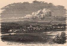 AYRSHIRE. Mauchline. Scotland 1885 old antique vintage print picture