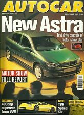 Autocar 22nd October 1997, Astra, 528i, XJR, E55 AMG, Carisma, E30 M3, MX-5, MR2
