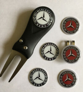 Mercedes Pitchfork and Golf  Hat Clip and Marker - FREE UK P&P