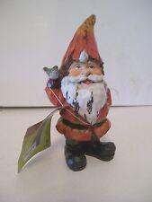 Orange Garden Gnome With Shovel Resin Figurine Spring Garden Decoration