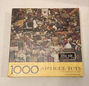 "NIB Springbok ""Antique Toys"" King Size 1000 Piece Jigsaw Puzzle, Jerry Smith"