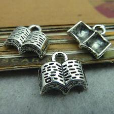 20pc tibetan silver Livre Pendentif Perles Charms Fabrication de Bijoux Vente en Gros pl249
