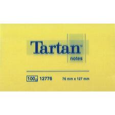 12 Confezioni Post-it Tartan 12776 da 100 fogli Giallo Canarino 127mm x 76mm rip
