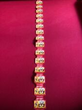 """1950's, Howdy Doody, """"Un-Cut"""" Strip of (16) """"Hostess Cup Cakes"""" Labels (Rare)"""