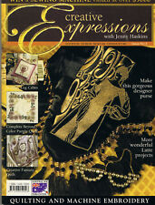 CREATIVE EXPRESSIONS issue 2 with Jenny Haskins Machine Embroidery