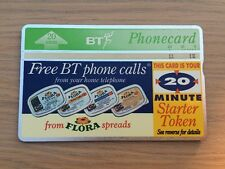 BT Phone card - Flora Spreads, 20units, Used