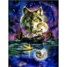 Night Wolf Moonlight Full Drill 5D Diy Diamond Painting Kits Art Embroidery Diy