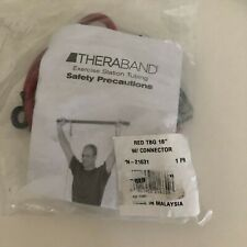 TheraBand Wellness Station Professional Latex Resistance Tubing,Red,18 Inch