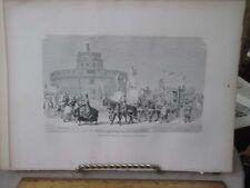 Vintage Print,FEAST OF MADONNA,Rome,Francis Wey,1872