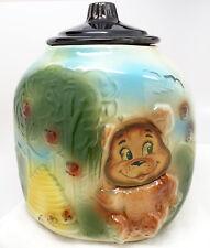Vintage American Bisque Honey Bear & Beehive Flasher Cookie Jar
