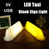 5V DC Taxi Cab Sign Light Base Roof Waterproof Top Topper Car Magnetic Lamp  UK