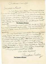 Christian A. Sinding (1856-1941) Norwegian composer Autographed letter signature