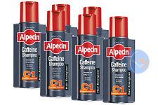 6 x ALPECIN C1 caffeina Shampoo 250ml stimola le radici dei capelli,