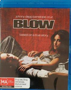 BLOW BLU RAY JOHNNY DEPP PENELOPE CRUZ REGION B AUSTRALIAN LIKE NEW