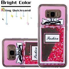 For Samsung Galaxy S8+ PLUS - Perfume Bottle Star Pink Glitter Liquid Skin Case