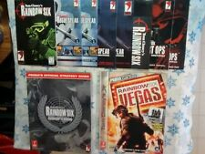 Rainbow Six Collector'S Edition, Vegas Strategy Guides Manuals Lot, Pos Freebie!