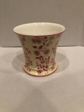 "Halcyon Days Nina Campbell ""vouvray� Pink Porcelain Planter Only No Drip Tray"