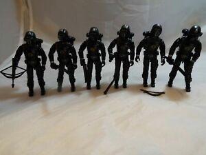 G.I.JOE, ACTION FORCE FIGURE SET OF 6 CRIMSON SHADOW GUARD v8 FROM 2005