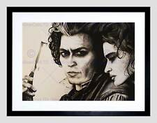 SWEENEY TODD JOHNNY DEPP MAGUIRE BLACK FRAME FRAMED ART PRINT PICTURE B12X14048