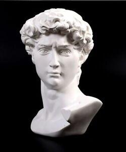Michelangelo David Head Bust Statue Greek Mythology Sculpture Figurine Ornament
