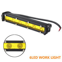 "7"" 18W 6LED Work Light Bar Spot Driving Lamp For 4WD Offroad Car Truck SUV Boat"
