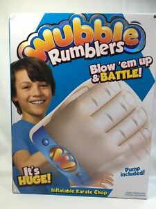 Wubble Rumblers Karate Chop Hand Blow Up and Battle Pump Included New