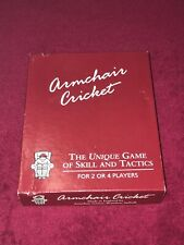 BOXED UNUSED VINTAGE ARMCHAIR CRICKET GAME CONTENTS SEALED DATED 1988