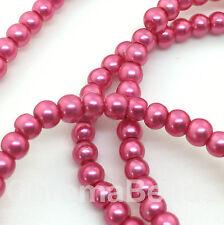 3mm Vetro Perle Finte strand Ciliegia 230+ perline creazione gioielli,