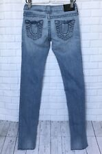 True Religion Sz 24 Stella Slim Distressed Blue Women's Jeans